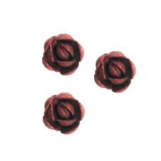 Vahvlikaunistus Inglise roos mini, bordoo läikiv 60tk