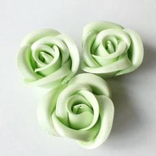 Suhkrukaunistus ROOS suur heleroheline hõbedase läikega 15tk