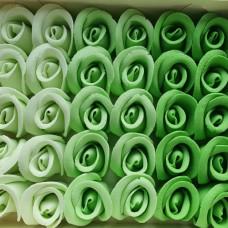 Suhkrukaunistus ROOS keskmine roheline toon toonis  30tk